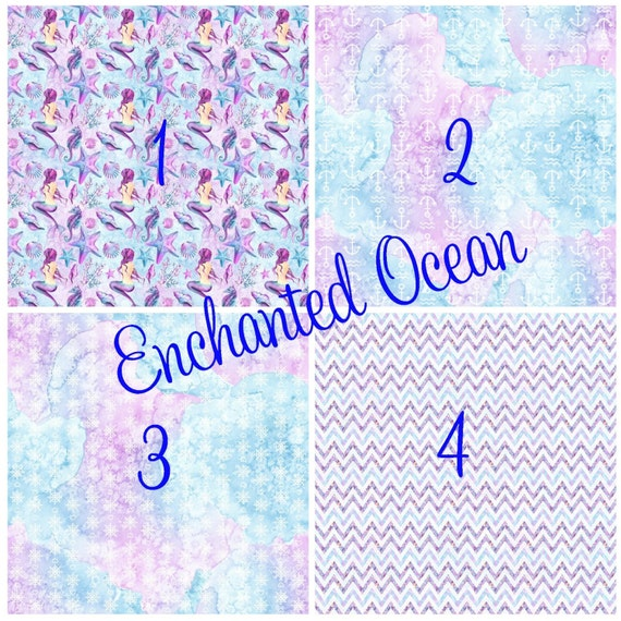 Enchanted Ocean Mermaids Ombre  Adhesive 651 Vinyl, HTV or Glitter HTV. Choice of 3 sizes. 6x6, 6x12 or 12x12. Decals HTV. Abstract