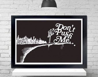 Close To The Edge Poster - grandmaster flash, the message, shel silverstein, where the sidewalk ends
