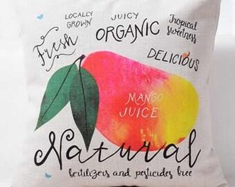 Farmers Market Mango Juice - Pillow Cover
