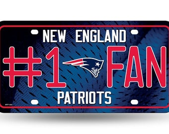 New England Patriots #1 Fan Novelty License Plate
