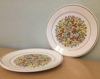 "Four Corelle Indian Summer 10"" Dinner Plates"