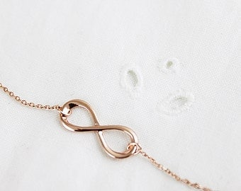 Infinity Necklace Bridesmaid Gift Bridesmaid Necklace Wedding Jewelry Dainty and Delicate Necklace Birthday Gift