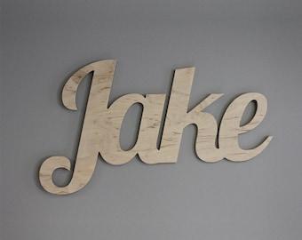 Customized Name Sign - Birch