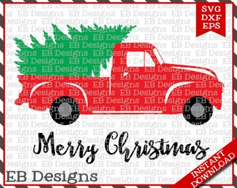 Christmas tree truck | Etsy
