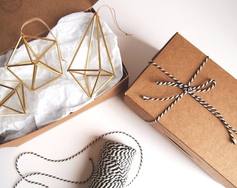 Special Value 3-pack // Scandinavian Geometric Ornament // Perfect Home Decor or Gift // Modern Style // Wedding Decoration // Hostess Gift