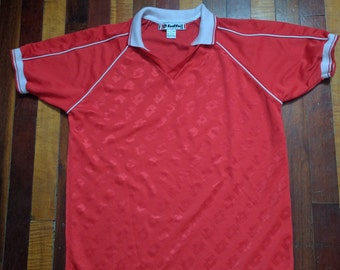 Vintage 90s Lotto Italia Soccer Jersey Collar #21 XL