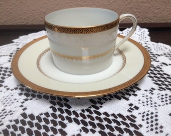 LIMOGES TEA CUP Sets, Four Limoges Tea Cups and Plates, Four Tea Cup Sets