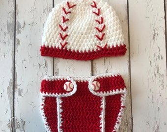 Baseball set, newborn photos, baby shower gift, photo props, newborn outfit, baby outfit