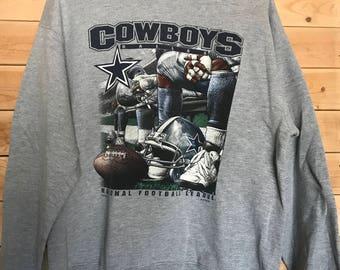 Vintage Cowboys Sweatshirt // Vintage Dallas Cowboys Sweater // Vintage NFL Sweatshirt