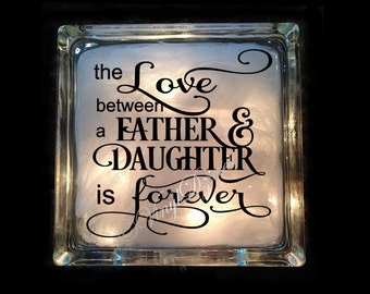 Gift for Dad - Love Between Father and Daughter - Love Father Daughter - Dad Night Light - Father Present - GB-1151