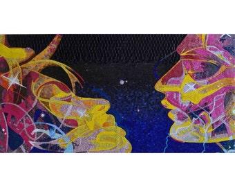Visionary Glass Mosaic Artwork