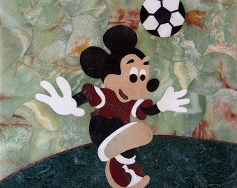 Mickey Mouse Mosaic Mural