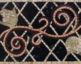 Wavy Floral Mosaic Border