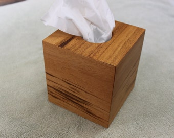 Tissue Box Cover made from Tigerwood