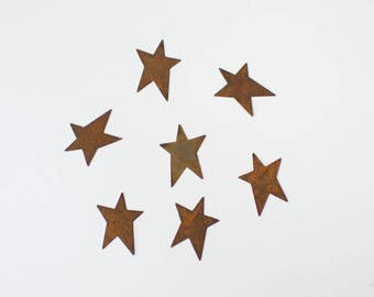 Rusty Tin Stars - Primitive Rustic Metal Stars
