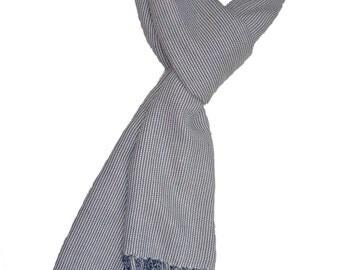 Scarf cotton, Cotton Scarf,100% cotton, handmade scarf,Blue Handmade Cotton Scarf, Blue Cotton Scarf