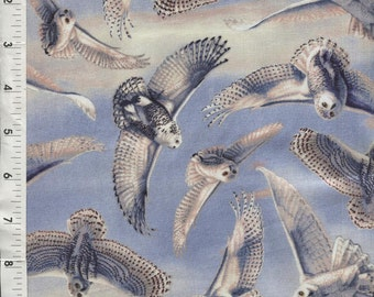 "Quilting Treasures ""Silent Flight"" Owls in Flight Fabric"