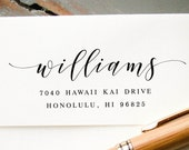 Self Inking Address Stamp, Modern Brush Lettering Return Address Stamp, Address Stamp, Wedding Address Stamp, Custom Address Stamp