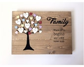 Family tree  Wooden family tree  Mothers day  Gift for mothers day  Custom family tree  Family tree gift  Personalised family