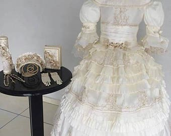 Special order, first communion, first communion dress, Victorian dress