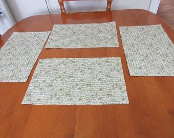 Lord's Prayer Place mats, Christian Place mats, Lord's Prayer linens, Cotton Place mats, Reversible Place mats, Christian linens,