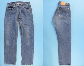 Levi's 501 Jeans 29, 90s Levi's 501 Jeans, Vintage Levi's 501 Jeans, Distressed Jeans, Levis Made In USA, size 29
