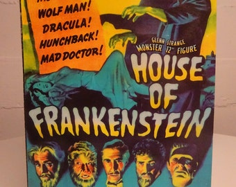 House Of Frankenstein 12'' Doll Universal Monsters/ Glen Strange 12''Monster Figure/ Karloff/Chaney Movie Monster Memorabilia Free Shipping