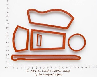 3D Wheelbarrow Cookie Cutter Set