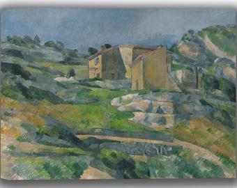 Paul Cézanne: Houses in Provence - The Riaux Valley near L'Estaque. Fine Art Canvas. (04085)