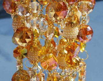 Clearance sale - Golden Honey Crystal Wind Chime