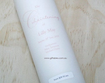 Personalised Christening / Baptism Candle - CDG01