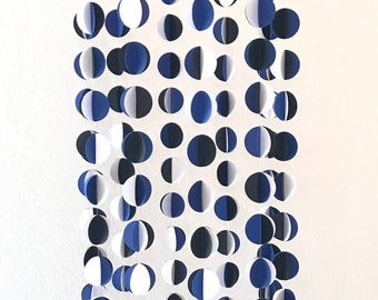 Blue, White and Black Circles Mobile