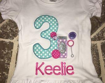 Bubbles birthday shirt