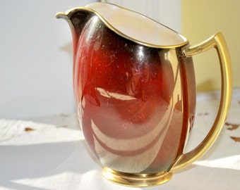 Syrup Pitcher , Maple Syrup Dispenser , Carlton Ware Rouge Royale