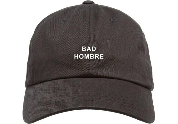 Black Dad Cap Bad Hombre Barack Obama Low Profile Hat