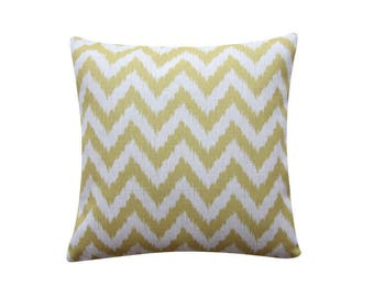 "22"" x 22"" Yellow Chevron Geometry Pillow Cover, Scandinavian Geometric Cushion, Decorative Pillow Cover Kids Room Throw Pillow 144"