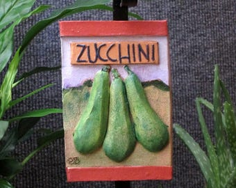 Zucchini vegetable garden marker