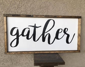 Gather Farm Sign