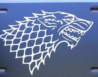 Game of Thrones House of Stark & Targaryen License Plates