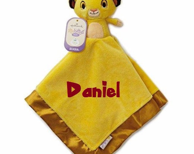 Lion King SIMBA Lovey Snuggle Blankey Security Baby Blanket Lion Guard - Monogrammed