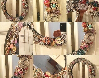 Jeweled Mirror Frame
