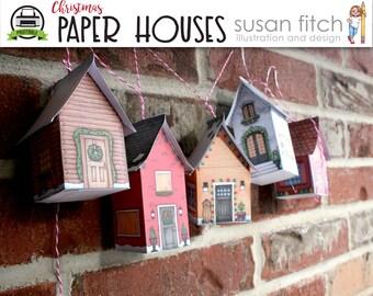 PAPER CHRISTMAS HOUSES