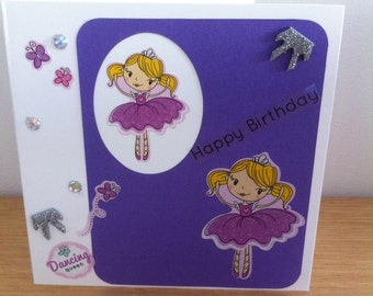 Ballerina  Girls Birthday  Cards
