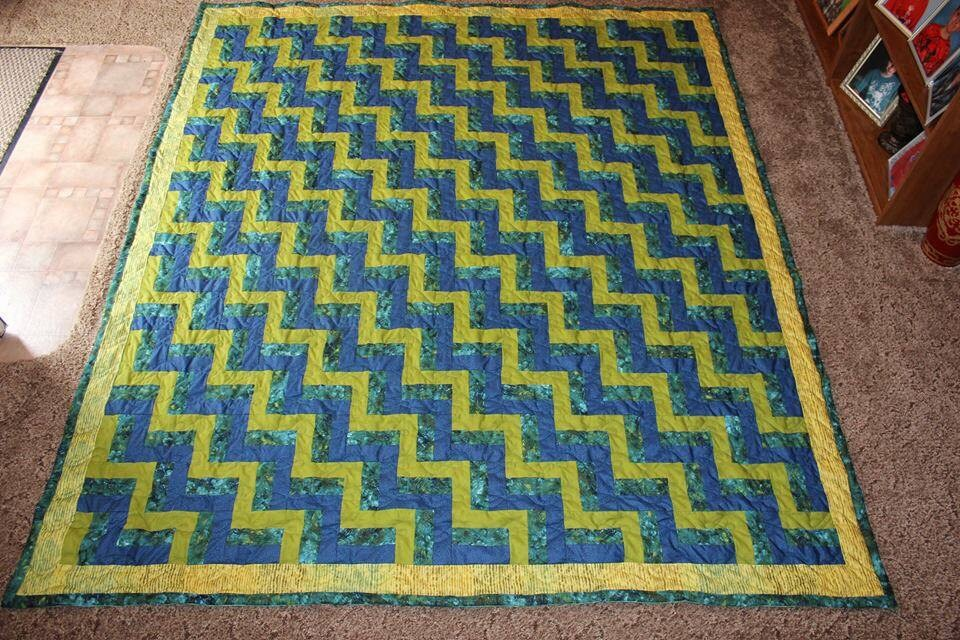 King Quilt Custom Made Quilt King Size Quilt Rail Fence
