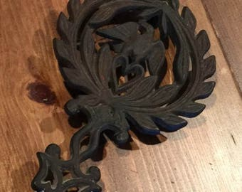 Iron Trivet with Eagle and Heart