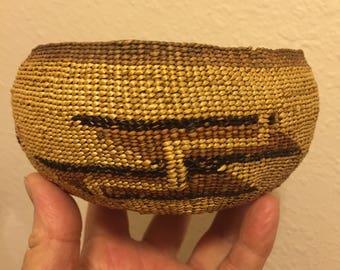 Hupa Circa 1920 Native American Basket  Northern California