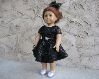 "Sequin Party Dress for American Girl and other 18"" Dolls"