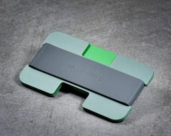 Minimo wallet | moss, green + grey | minimalist, slim wallet, card wallet, travel wallet
