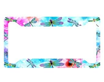 Dragonflies License Plate Frame