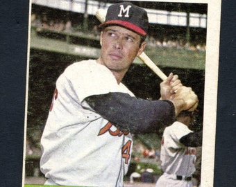 1964 Topps Baseball Eddie Mathews #35 Braves HOF See Scan